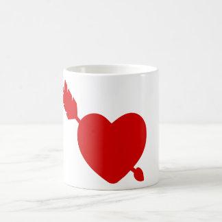 Coeur rouge. Dans l'amour Mug Blanc
