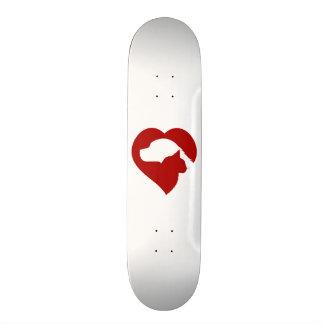 Coeur rouge de chat et de chien de délivrance plateaux de skateboards
