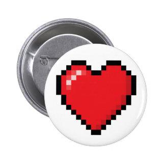 Coeur rouge de jeu vidéo de Pixelated Badges