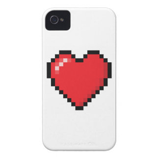 Coeur rouge de jeu vidéo de Pixelated Coque iPhone 4 Case-Mate
