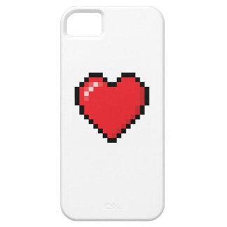 Coeur rouge de jeu vidéo de Pixelated Coque iPhone 5 Case-Mate