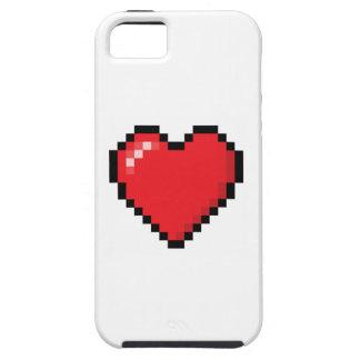 Coeur rouge de jeu vidéo de Pixelated Coques iPhone 5 Case-Mate
