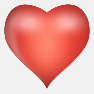 coeur rouge de l'amour 3D Autocollant En Cœur