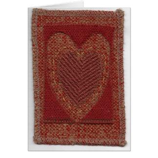 Coeur rouge foncé carte de vœux