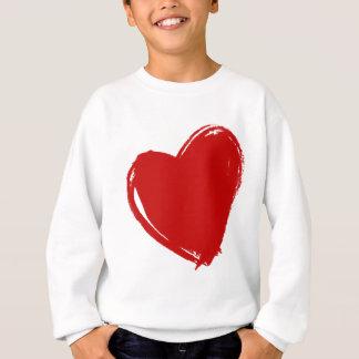 Coeur rouge foncé sweatshirt