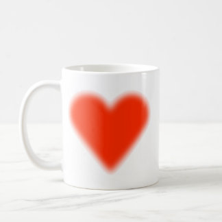 Cœur Rouge Mug Blanc