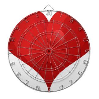 Coeur rouge pour le Saint Valentin Jeu De Fléchettes