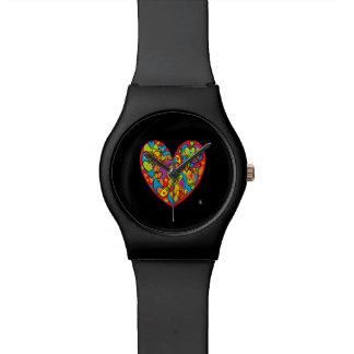 coeur rouge st valentin montre