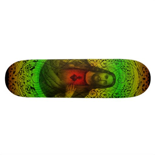 Coeur sacré de planche à roulettes de Jésus Rastaf Skateboards