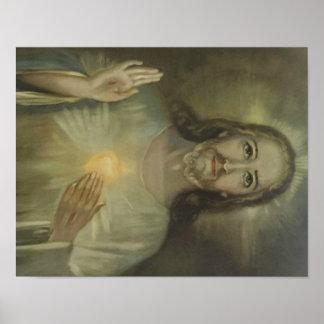 Coeur sacré d'intronisation de Jésus Poster