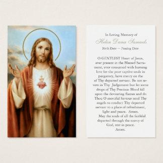 Coeur sacré funèbre Jésus 3 de la carte   de