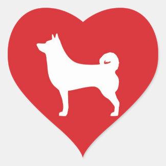 Coeur Shiba Inu - autocollant de coeur