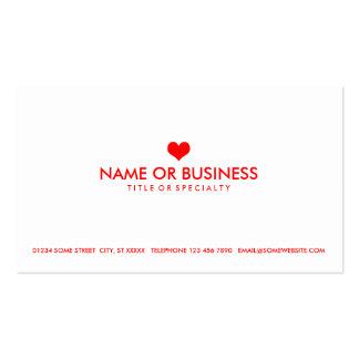coeur simple carte de visite standard