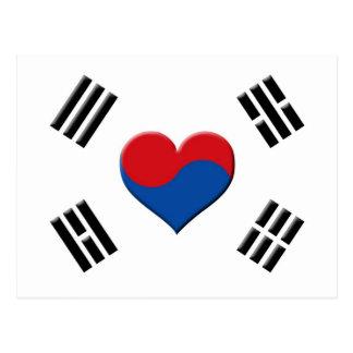 Coeur sud-coréen carte postale