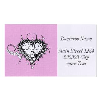 Coeur sur le rose tatoué carte de visite standard