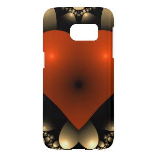 Coeur symétrique doux du rouge 3D Coque Samsung Galaxy S7
