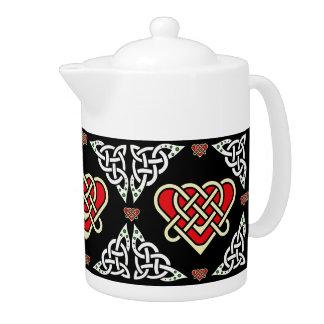 Coeur tressé celtique/blanc de Scotalnd, 2, noirs