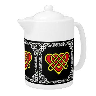 Coeur tressé celtique/blanc de Scotalnd, 3, noirs