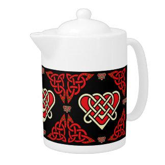 Coeur tressé celtique/blanc/rouge de Scotalnd, 2,