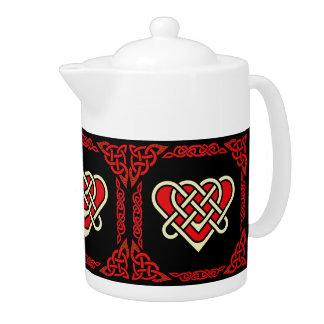 Coeur tressé celtique/blanc/rouge de Scotalnd, 3,