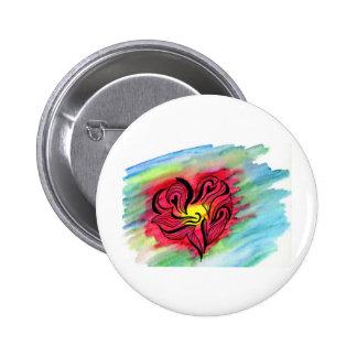 coeur tribal badge rond 5 cm