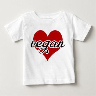Coeur végétalien t-shirt pour bébé