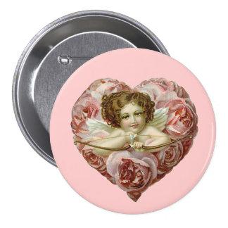 Coeur vintage de Valentine Pin's Avec Agrafe