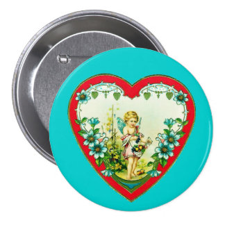 Coeur vintage de Valentine Badges Avec Agrafe