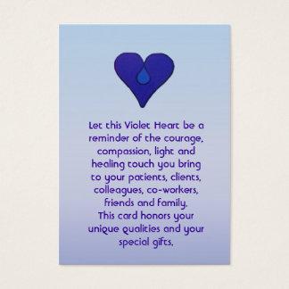 Coeur violet - carte de travailleurs sociaux