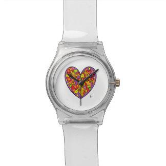 coeur violet st valentin montre