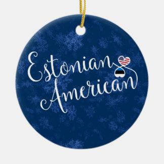 Coeurs américains estoniens, ornement d'arbre de