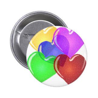 Coeurs Badge Avec Épingle