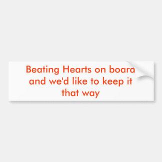 Coeurs battants à bord autocollant pour voiture