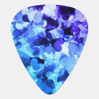 Coeurs bleus pourpres de Kawaii Onglet De Guitare