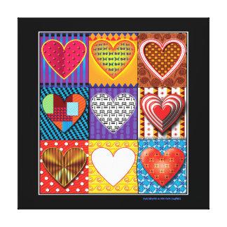 Coeurs colorés multi de toile moderne