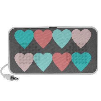 Coeurs d amour haut-parleur portable