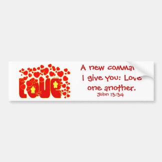 Coeurs d'amour - 13h34 de John Autocollant De Voiture