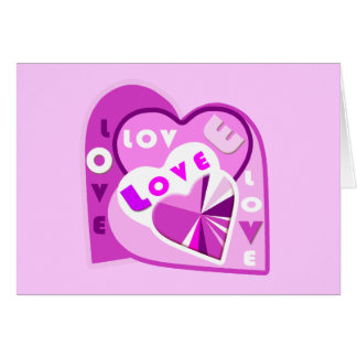 Coeurs d'amour carte de vœux
