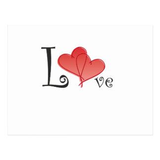 Coeurs d'amour carte postale