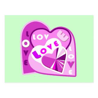 Coeurs d'amour cartes postales