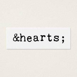 Coeurs dans le HTML Mini Carte De Visite