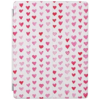 Coeurs d'aquarelle protection iPad