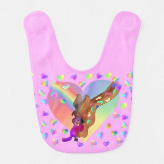 Coeurs d'arc-en-ciel par Happy Juul Company Bavoirs Pour Bébé