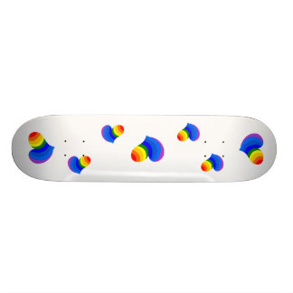 Coeurs d'arc-en-ciel skateboards cutomisables
