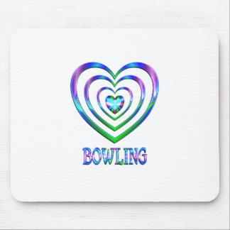 Coeurs de bowling tapis de souris
