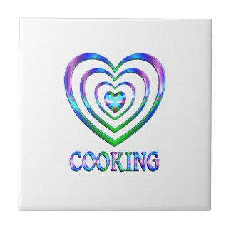 Coeurs de cuisine carreau