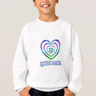 Coeurs de danse carrée sweatshirt