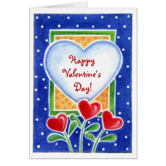 Coeurs de floraison - carte de Valentine