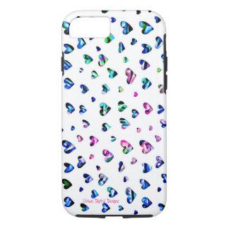 Coeurs de floraison - iPhone 7, cas dur d'Apple de Coque iPhone 7