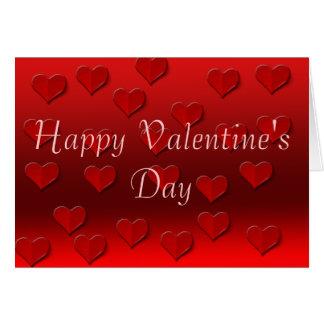 Coeurs de l'amour carte de vœux